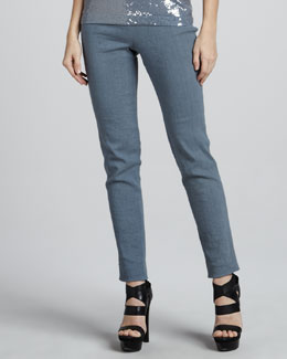 Donna Karan Side-Zip Ankle Pants, Tempest