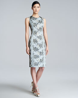 Erdem Tali Printed Sheath Dress