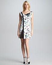 3.1 Phillip Lim Asymmetric-Placket Floral Dress