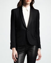 Saint Laurent Shawl-Collar Jacket