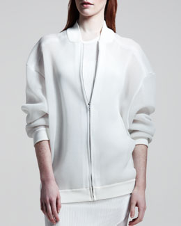 Stella McCartney Sheer Sweatshirt Jacket