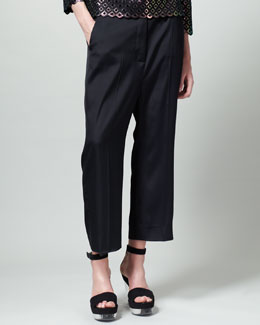 Stella McCartney Slouchy Ankle Pants, Black