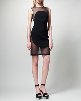 Stella McCartney Organza-Inset Dress
