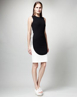 Stella McCartney Elliptical-Colorblock Dress