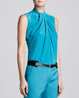 Etro Sleeveless Knot-Detail Blouse