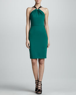 Jason Wu Halter Sheath Dress, Emerald