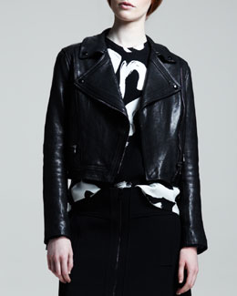 Proenza Schouler Lamb Leather Motorcycle Jacket