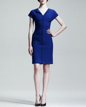 Proenza Schouler Dart Piped Pencil Dress