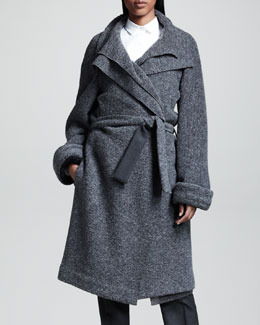 THE ROW Felted Wrap Coat