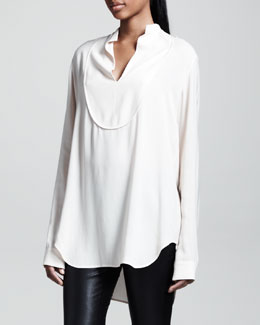 THE ROW Oversized Twill Blouse