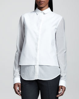 THE ROW Voile Combo Blouse