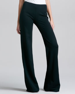 Donna Karan Fluid Crepe Trousers, Black