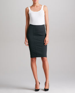 Donna Karan Pieced Pencil Skirt, Charcoal