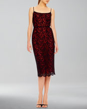 Michael Kors  Fitted Sleeveless Lace Dress