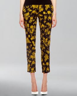 Michael Kors Samantha Leaf-Print Pants