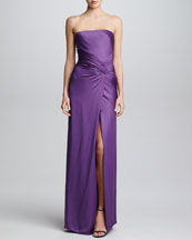 Ralph Lauren Collection Silk Charmeuse Strapless Gown, Orchid