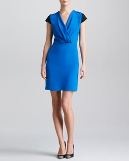 Derek Lam Colorblock Surplice Dress