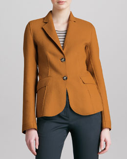 Armani Collezioni Double-Face Sport Wool Jacket