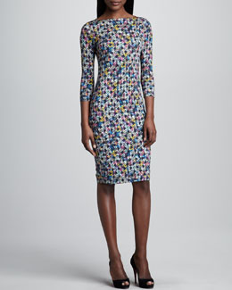 Erdem Mixed Print Sheath