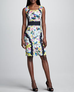 Erdem Sleeveless Printed Sheath