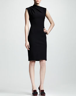 Lanvin Asymmetric Jersey Dress