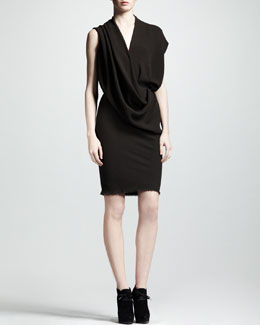 Lanvin Draped Crepe Dress