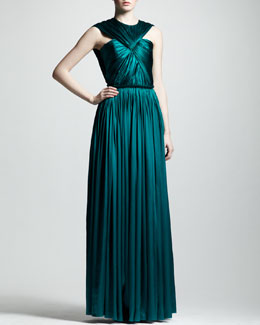 Lanvin Ruched Silk Gown