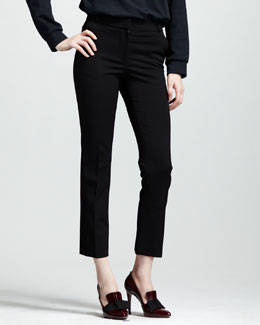 Lanvin Stretch-Gabardine Ankle Pants