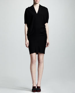 Lanvin Blouson-Top Jersey Dress