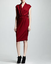 Lanvin Wrap-Front Jersey Dress