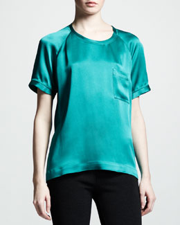 Lanvin Satin Pocket Tee