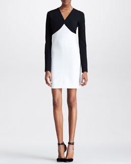 Emilio Pucci Two-Tone V-Neck Dress