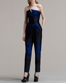 Stella McCartney Strapless Striped Jumpsuit