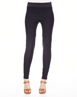 Stella McCartney Ankle-Zip Skinny Stretch Pants