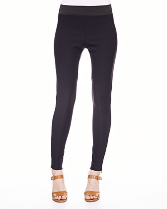 Ankle-Zip Skinny Stretch Pants