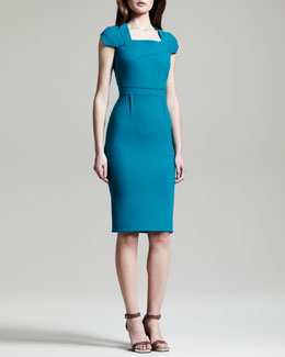 Roland Mouret Breccia Fold-Detail Dress