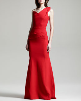 Roland Mouret Azul One-Shoulder Gown