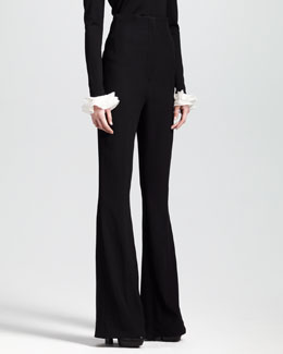 Alexander McQueen High-Waisted Bellbottom Pants