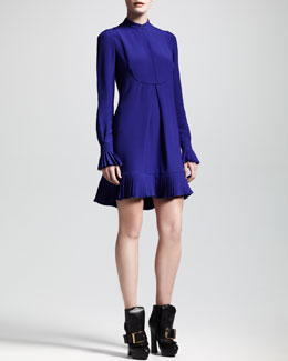 Alexander McQueen Pleated Cady Shirtdress