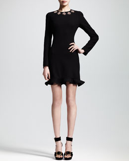 Alexander McQueen Glory Embellished Flounce Dress