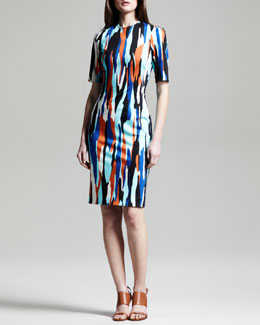 Jonathan Saunders Raquel Printed Shift Dress