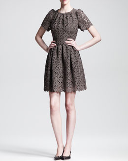 Dolce & Gabbana Full-Skirt Macrame Dress