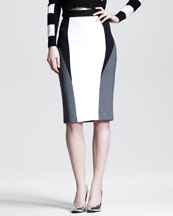 Aquilano.Rimondi Colorblock Pencil Skirt