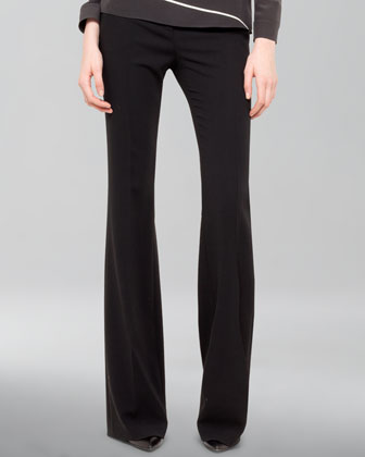 Farrah Wool Boot-Cut Pants
