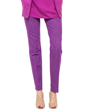 Slim Stretch Denim Pants, Violet