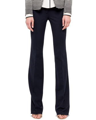 Faye Boot-Cut Techno-Wool Pants