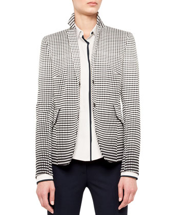 Dotted Dégradé Snap Blazer