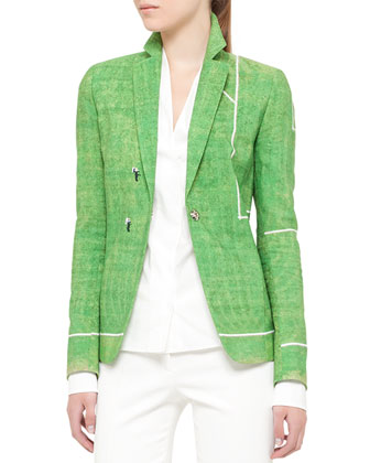 Soccer Field Snap Blazer and Techno-Cotton Pants