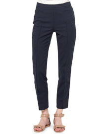 Franca Cropped Techno Pants, Navy