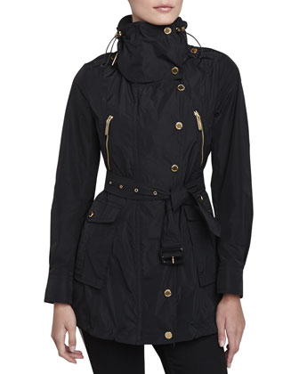 Technical Taffeta Jacket, Black